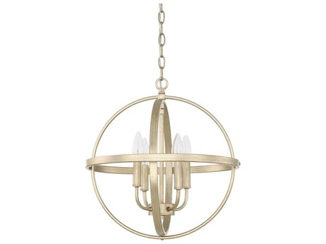 Capital Lighting Homeplace Winter Gold Four-Lights 17'' Wide Mini Chandelier