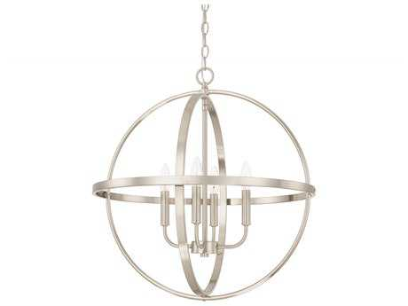 Capital Lighting HomePlace Lighting Brushed Nickel Four-Light 23'' Wide Chandelier