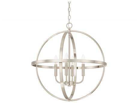 Capital Lighting HomePlace Lighting Brushed Nickel Four-Light 23'' Wide Chandelier