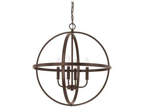 Capital Lighting HomePlace Lighting Bronze Four-Light 23'' Wide Chandelier