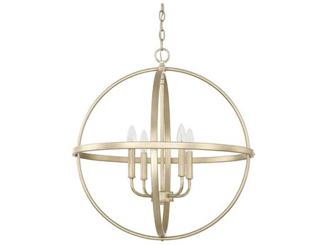 Capital Lighting Homeplace Winter Gold Four-Lights 23'' Wide Mini Chandelier