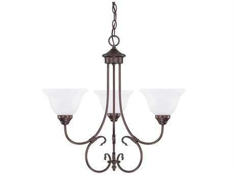 Capital Lighting HomePlace Bronze Three-Light 24'' Wide Chandelier