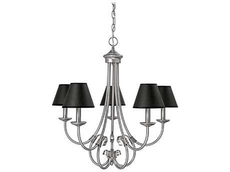 Capital Lighting Hometown Matte Nickel Five-Light 26'' Wide Chandelier