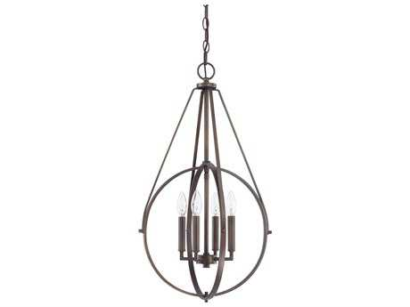 Capital Lighting Burnished Bronze Four-Light 17'' Wide Pendant Light