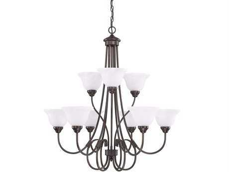 Capital Lighting HomePlace Bronze Nine-Light 34'' Wide Chandelier