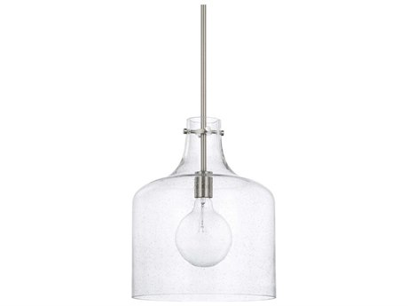 Capital Lighting Homeplace Brushed Nickel 12'' Wide Mini Pendant Light
