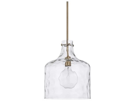 Capital Lighting Homeplace Aged Brass 12'' Wide Mini Pendant Light