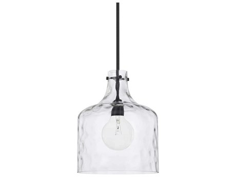 Capital Lighting Homeplace Matte Black 12'' Wide Mini Pendant Light