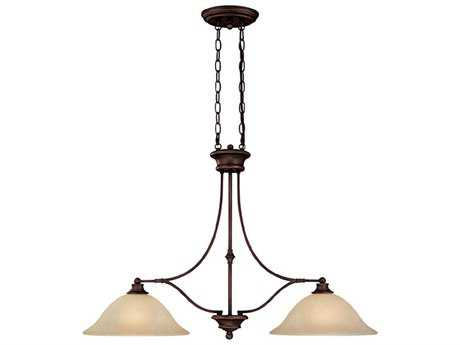 Capital Lighting Belmont Burnished Bronze Two-Light 36'' Wide Island Light
