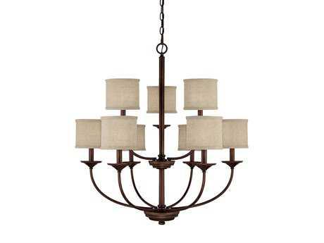 Capital Lighting Loft Burnished Bronze Nine-Light 32'' Wide Chandelier