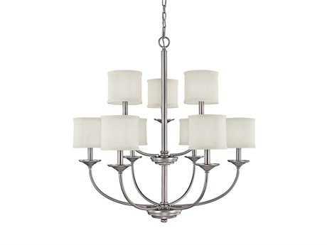 Capital Lighting Loft Matte Nickel Nine-Light 32'' Wide Chandelier