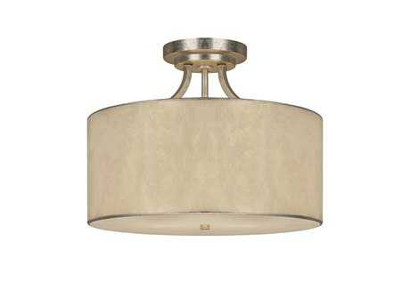 Capital Lighting Luna Winter Gold Three-Light Semi-Flush Mount Light