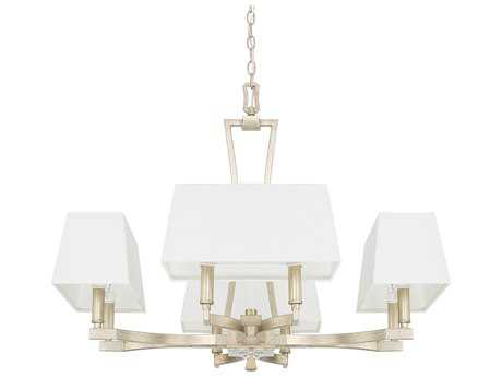 Capital Lighting Westbrook Winter Gold Eight-Light 28'' Wide Chandelier