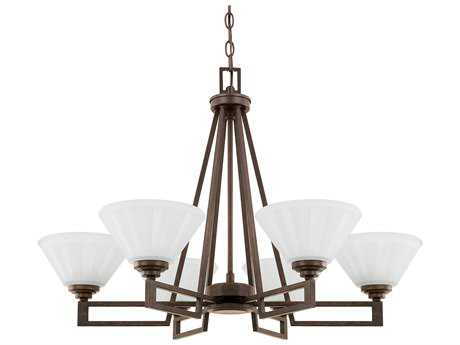 Capital Lighting Avalon Russet Six-Light 29'' Wide Chandelier