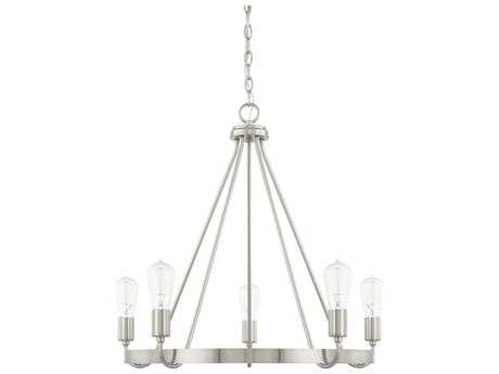 Capital Lighting HomePlace Brushed Nickel Five-Light 27'' Wide Chandelier