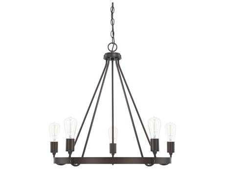 Capital Lighting HomePlace Bronze Five-Light 27'' Wide Chandelier