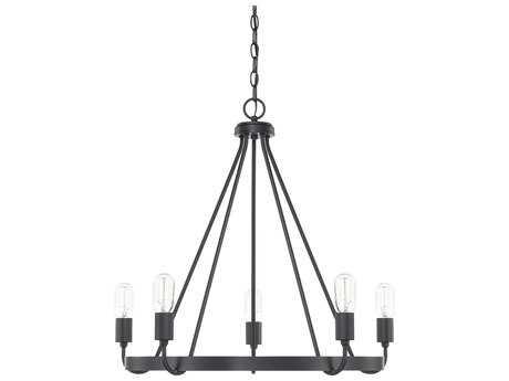 Capital Lighting HomePlace Matte Black Five-Light 27'' Wide Chandelier