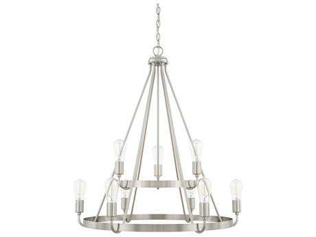 Capital Lighting HomePlace Brushed Nickel Nine-Light 31'' Wide Chandelier