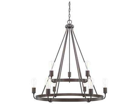 Capital Lighting HomePlace Bronze Nine-Light 31'' Wide Chandelier
