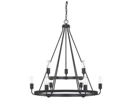 Capital Lighting HomePlace Matte Black Nine-Light 31'' Wide Chandelier
