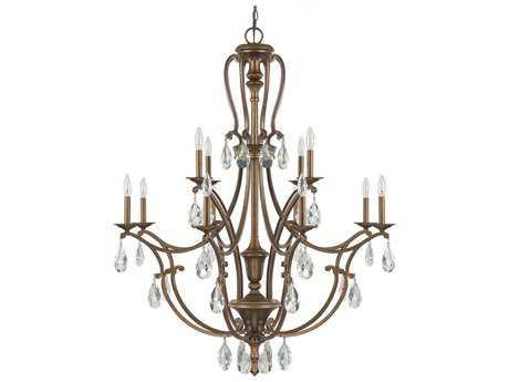 Capital Lighting Claybourne Suede 12-Light 40.5'' Wide Grand Chandelier