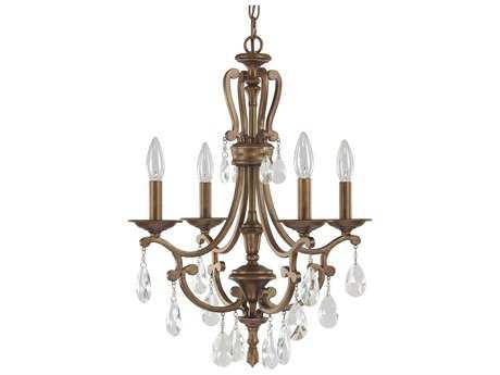 Capital Lighting Claybourne Suede Four-Light 18'' Wide Mini Chandelier