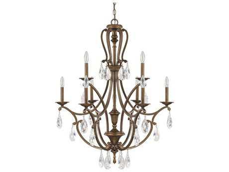 Capital Lighting Claybourne Suede Nine-Light 30.5'' Wide Chandelier