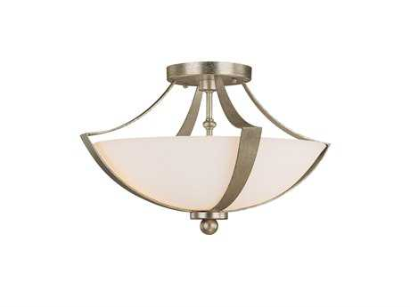 Capital Lighting Soho Winter Gold Two-Light Semi-Flush Mount Light