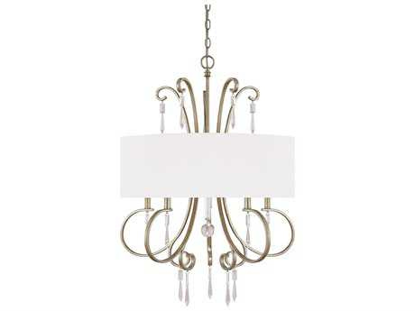 Capital Lighting Simone Winter Gold Five-Light 27.5'' Wide Chandelier
