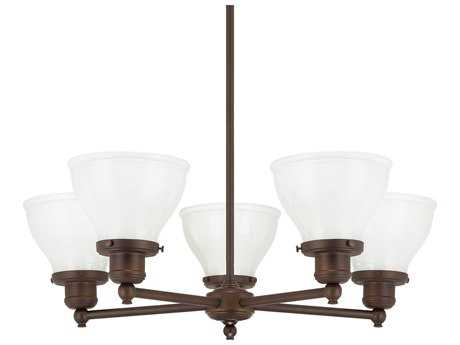Capital Lighting Baxter Burnished Bronze Five-Light 25'' Wide Chandelier
