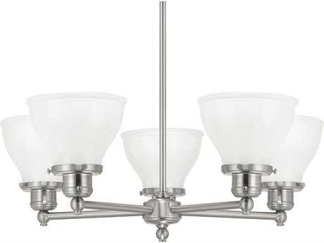 Capital Lighting Baxter Brushed Nickel Five-Light 25'' Wide Chandelier