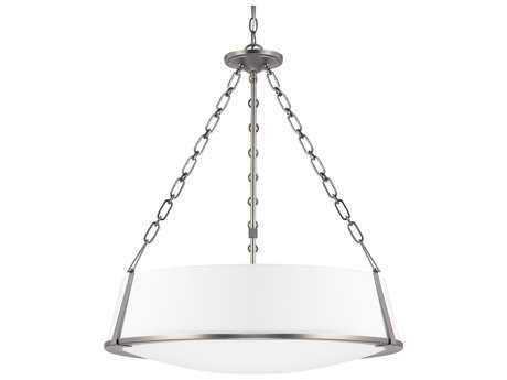 Capital Lighting East Village Antique Nickel Three-Light 25'' Wide Pendant Light