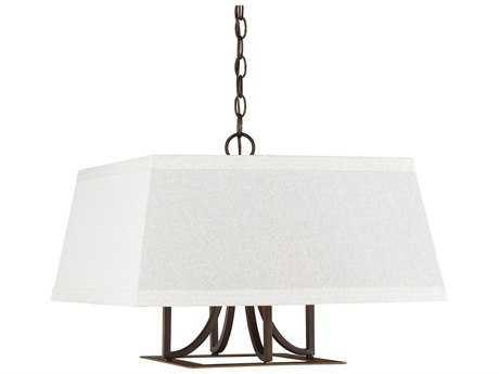 Capital Lighting Parker Burnished Bronze Four-Light 20'' Wide Pendant Light