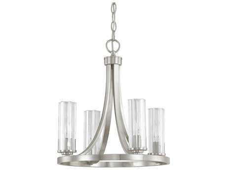 Capital Lighting Donny Osmond Home Emery Brushed Nickel Four-Light 16'' Wide Mini Chandelier