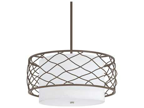 Capital Lighting Donny Osmond Home Sawyer Burnished Bronze Three-Light 18'' Wide Pendant Light