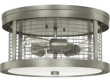 Capital Lighting Donny Osmond Home Davis Graphite Three-Light 16'' Wide Flush Mount Light