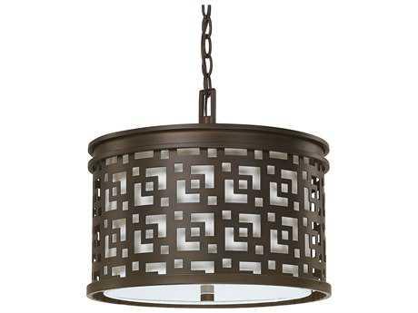 Capital Lighting Jasper Burnished Bronze Three-Light 15'' Wide Pendant Light
