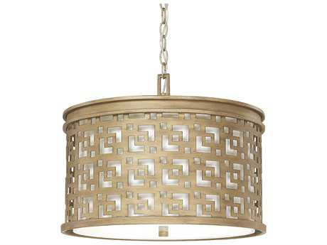 Capital Lighting Jasper Brushed Gold Three-Light 18'' Wide Pendant Light