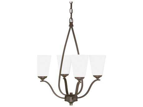 Capital Lighting Braxton Burnished Bronze Four-Light 20.5'' Wide Mini Chandelier