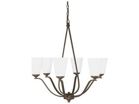Capital Lighting Braxton Burnished Bronze Six-Light 27'' Wide Chandelier