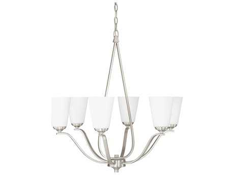 Capital Lighting Braxton Brushed Nickel Six-Light 27'' Wide Chandelier