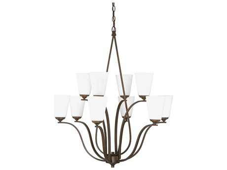Capital Lighting Braxton Burnished Bronze Ten-Light 32.5'' Wide Chandelier