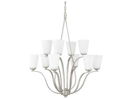 Capital Lighting Braxton Brushed Nickel Ten-Light 32.5'' Wide Chandelier