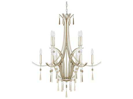 Capital Lighting Donny Osmond Home Berkeley Winter Gold Ten-Light 33'' Wide Chandelier
