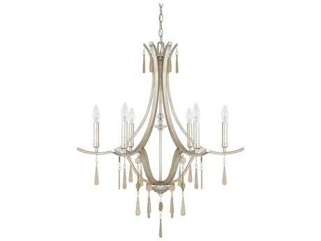 Capital Lighting Donny Osmond Home Berkeley Winter Gold Six-Light 29'' Wide Chandelier