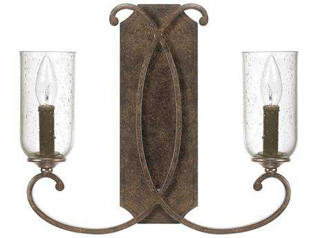 Capital Lighting Harrison Mottled Brown Two-Light Wall Sconce