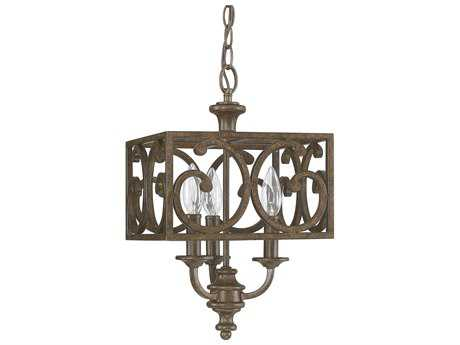 Capital Lighting Harrison Mottled Brown Three-Light 10'' Wide Pendant Light