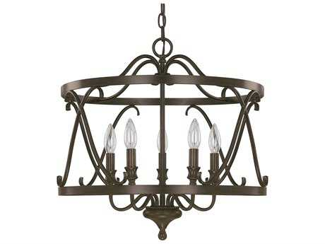 Capital Lighting Abbey Russet Five-Light 20'' Wide Pendant Light