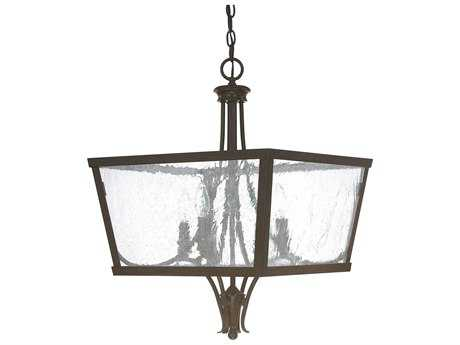 Capital Lighting Abbey Russet Four-Light 18'' Wide Pendant Light