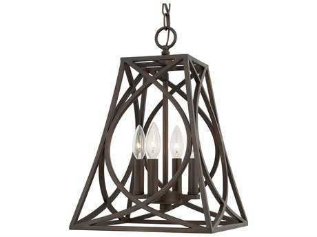 Capital Lighting Foyers Old Bronze Four-Light 12'' Wide Pendant Light